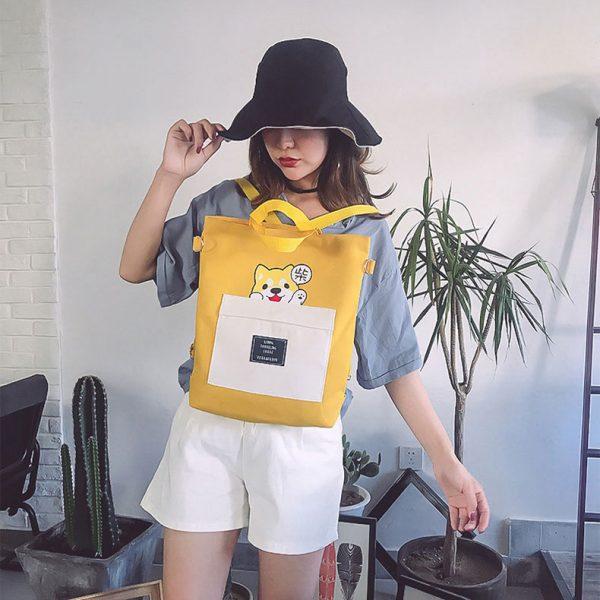 Женская детская сумка рюкзак маленький размер с рисунком принтом собака