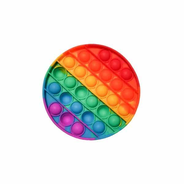 POP IT - Игрушка Антистресс - ПОП ИТ Круглый разноцветный радуга