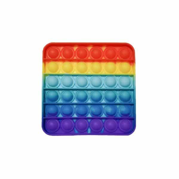 POP IT - Игрушка Антистресс - ПОП ИТ квадратный разноцветный радуга